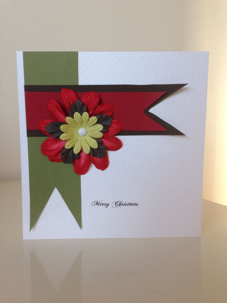 Handmade christmas card christmas card ideas pinterest for Handmade christmas cards