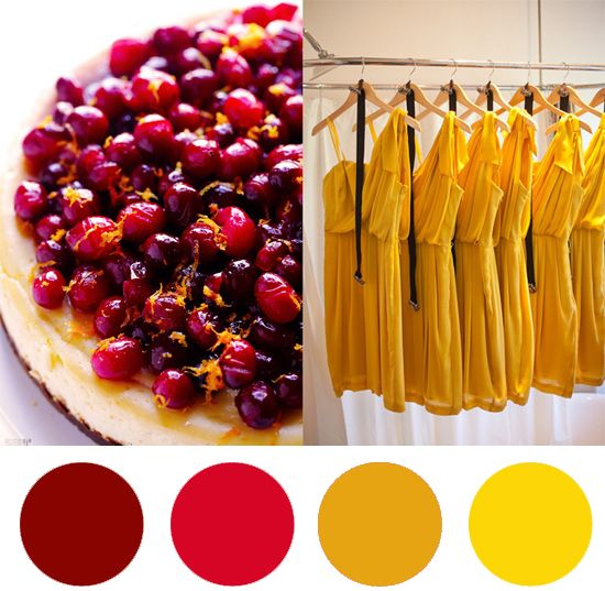 Christmas Colour Palette – Cranberry & Saffron