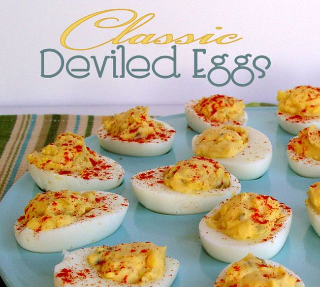 Classic Deviled Eggs | Food & Recipes | Pinterest