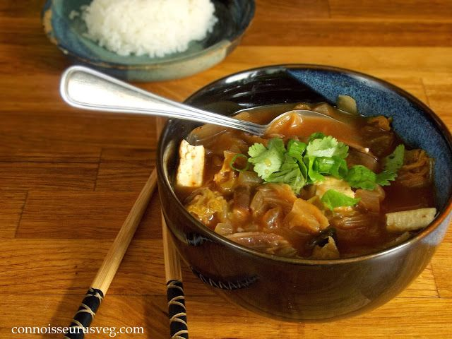 Kimchi Stew with Tofu and Shiitakes | Vegan Collection | Pinterest