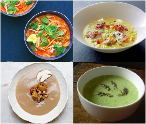 ... , mussel chowder, spring asparagus soup, chestnut soup with bacon
