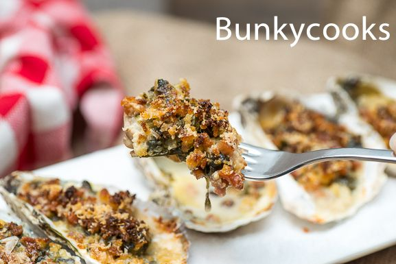 Southern Rockefellas – Oysters with kicked-up collards, bacon ...