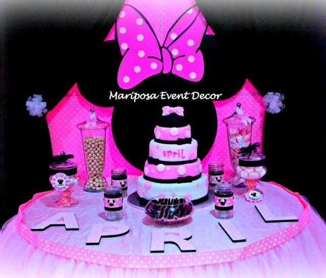 minnie mouse baby shower party ideas