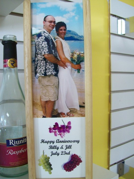 wine boxes make a great gift. Have wedding photos added to them, great ...