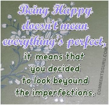 Being Happy Quotes and Sayings.