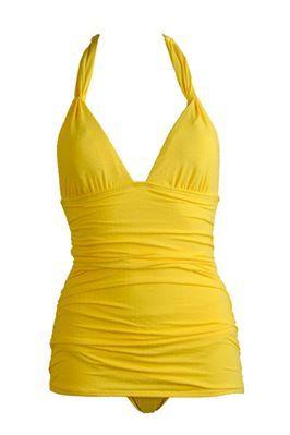 Yellow swim dress