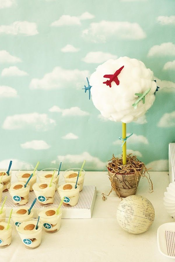 Airplane airport themed birthday party kara 39 s party for Airplane party decoration