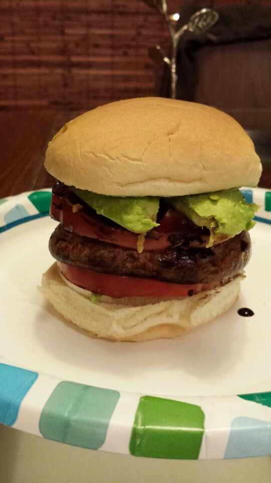 Balsamic Portobello Burgers With Bell Pepper And Goat Cheese Recipes ...