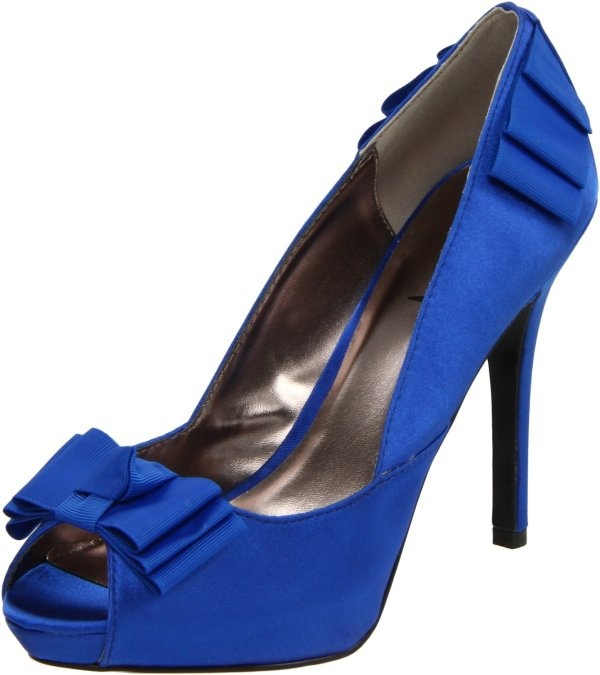 Ladies Moo Lah Platform Blue Wedding Shoes by Luichiny
