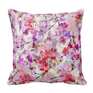 Throw Pillows For Couch Pinterest : Purple Floral Throw Pillow