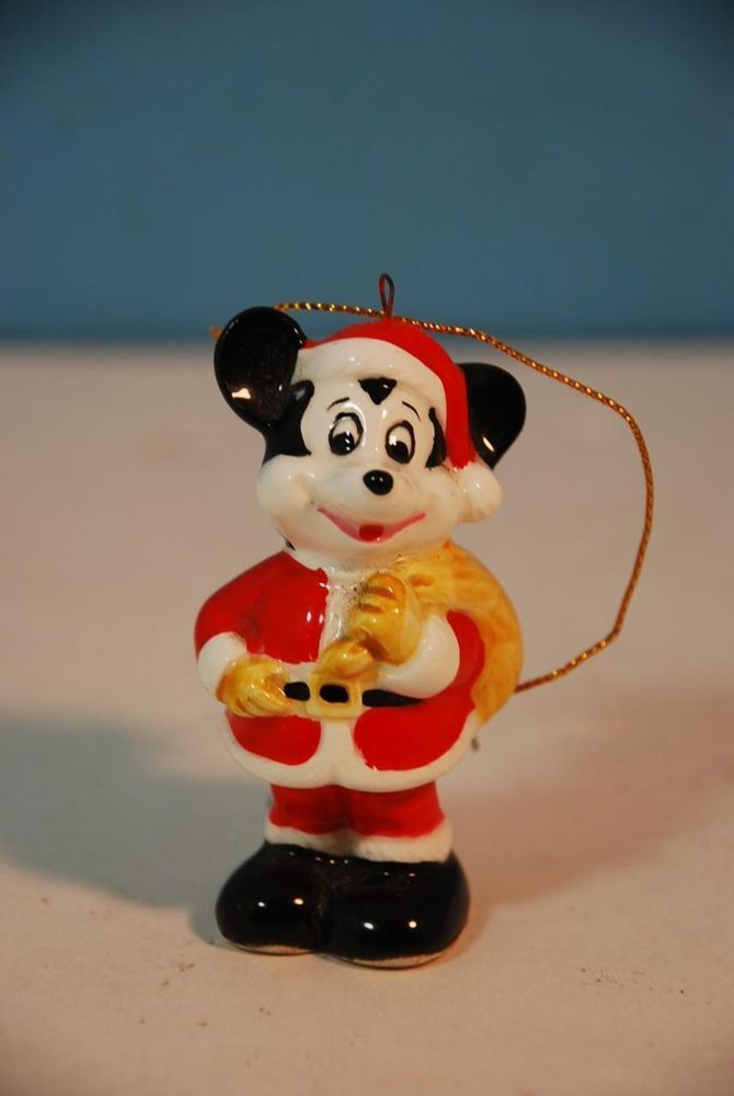 Vintage 1960 s santa claus mickey mouse ornament made in japan