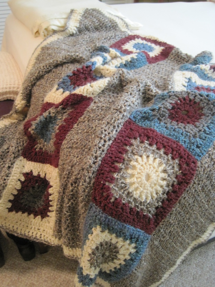 Crochet Afghan Pattern Homespun Yarn : Pin by Becky Gilleland-Gibson on Crochet Homespun Patterns ...