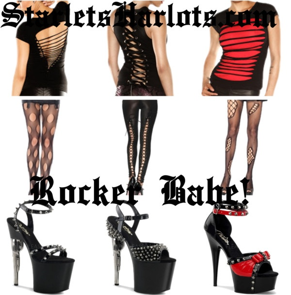 Womens Punk Rock Clothing by starlets-harlots on Polyvore