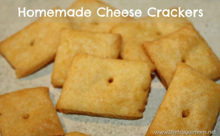 Homemade Cheese Cracker #Recipe | From Scratch | Pinterest