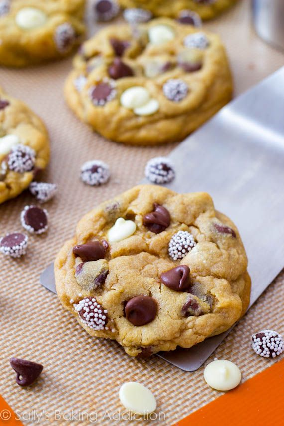 Soft-Baked Triple Chocolate Chip Cookies | Recipe