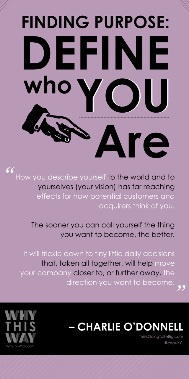 finding purpose: define who you are