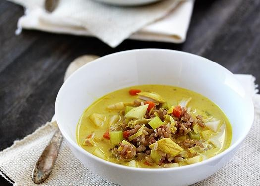 thai red curry turkey coconut curry wild rice soup aka sunshine soup ...