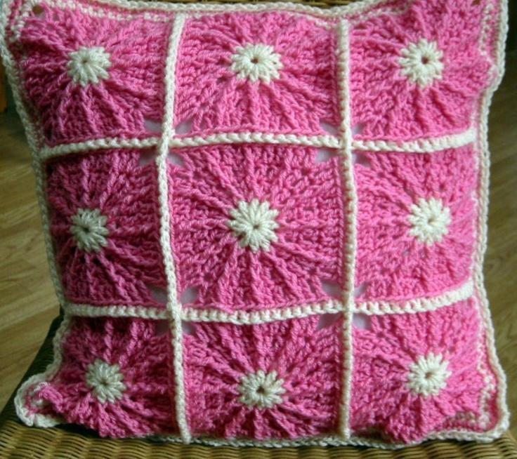 Crochet Pattern Granny Square Pillows : So Dotty Cushion Pillow Granny Cover Crochet Pattern PDF ...