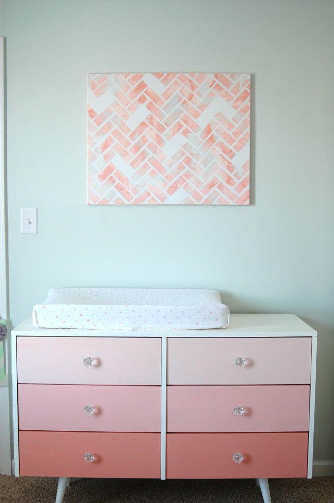 DIY Pink Ombre Dresser