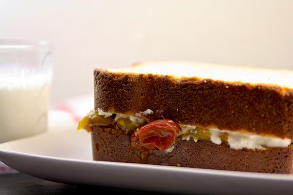 Goat's Butter Pound Cake With Tomato Jam & Goat Cheese Frosting ...