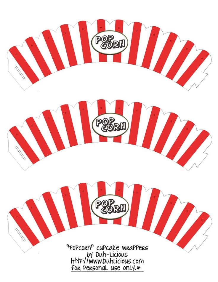 popcorn cupcake wrapper template