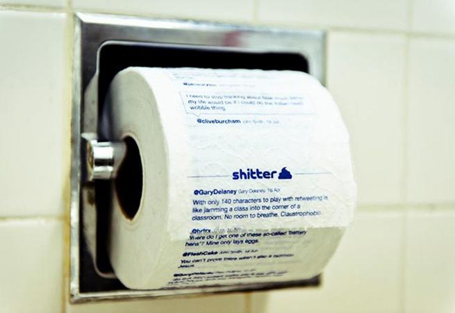 """""""Shitter"""" Twitter Toilet Paper"""