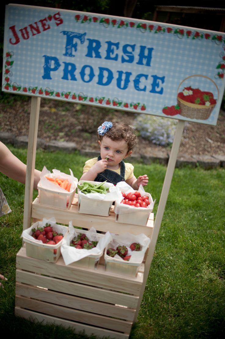 Farm party kids produce stand boy bday party pinterest