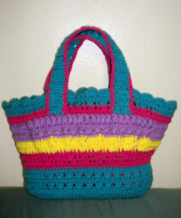 Crochet Work Bags : Beautiful colors bag MY CROCHET WORK Pinterest