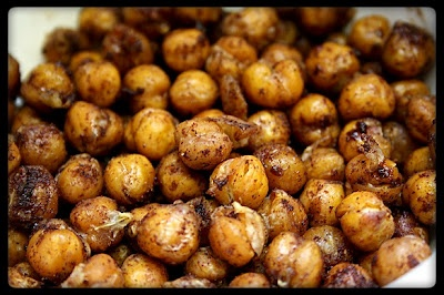 Ashley's Thrifty Living: Sweet and Salty Roasted Chickpeas!