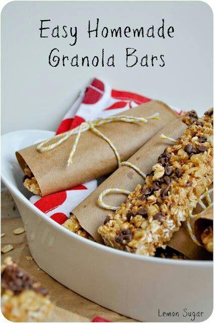 Easy homemade granola bars | Tasty Snacks | Pinterest