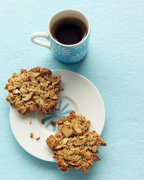 Oatmeal-Almond Crisps - Martha Stewart Recipes -semi nutritious ...
