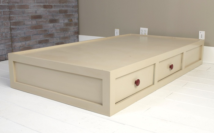 Twin platform bed with drawers for the home pinterest for Boys twin bed with drawers