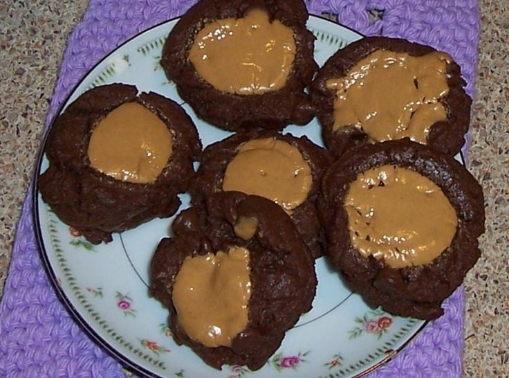 Double Chocolate Peanut Butter Thumbprint Cookies, I made these, they ...
