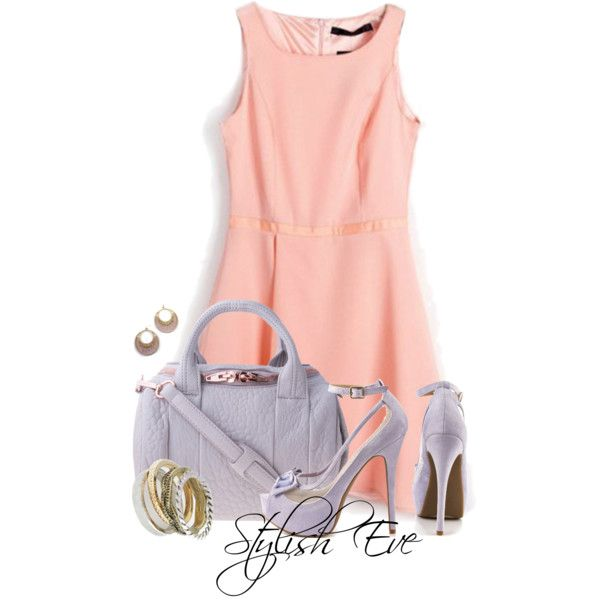"""Alaa."" by stylisheve on Polyvore How to wear a sleeves tank dress. #stylisheve #stylishevemag #style_inspiration #amazing #cool #outfits #outfitideasforwomen #for_woman #women_fashion #sleeves #tank_dress #dresses #pastel #fleur #alexander_wang #handbag #accessories #jewelry #multi_rings #earrings #cutwork #details #high_heels #streetfashion #streetstyle #beauty #girls #inspiration #instaheel #highfashion."