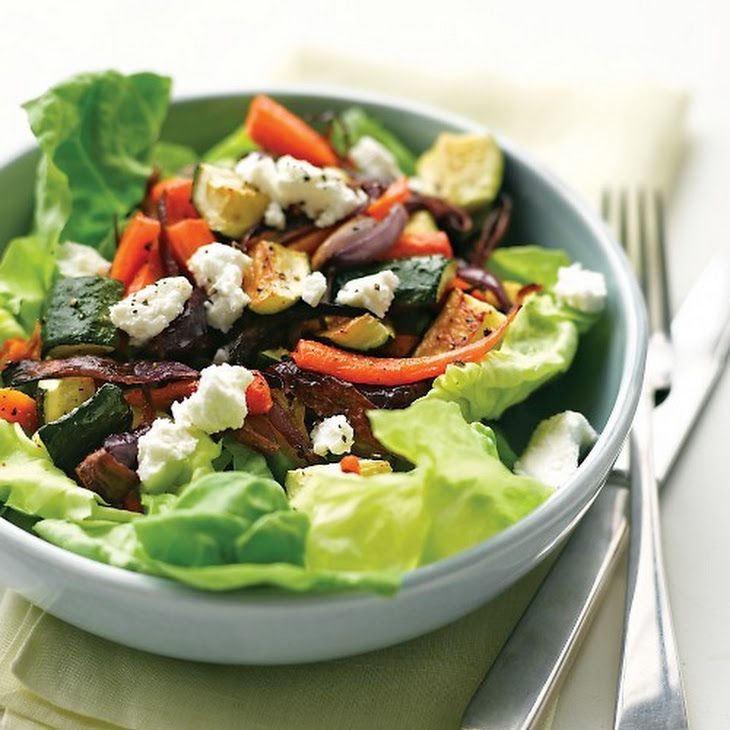 Roasted Vegetable Salad with Goat Cheese   Meals   Pinterest