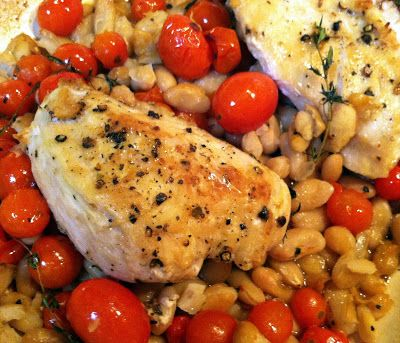 Rustic Chicken with White Beans and Tomatoes - One Couple's Kitchen