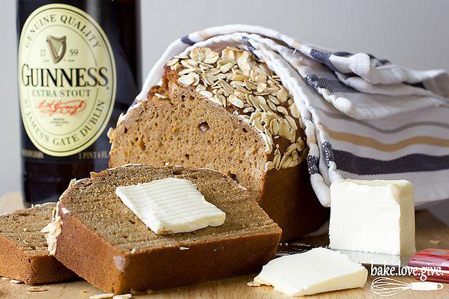 Dark molasses guinness irish beer bread | Recipe