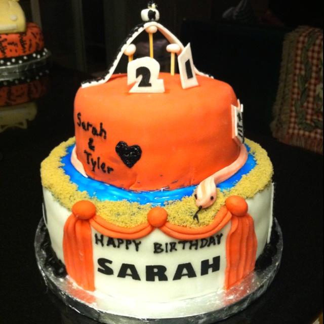 Sarahs 21st Birthday Cake  Cake Decorating Ideas  Pinterest