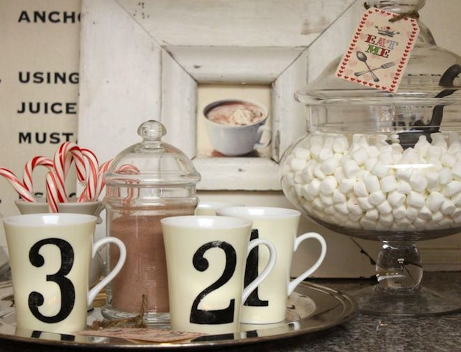 perfect hot chocolate display. | party plans | Pinterest