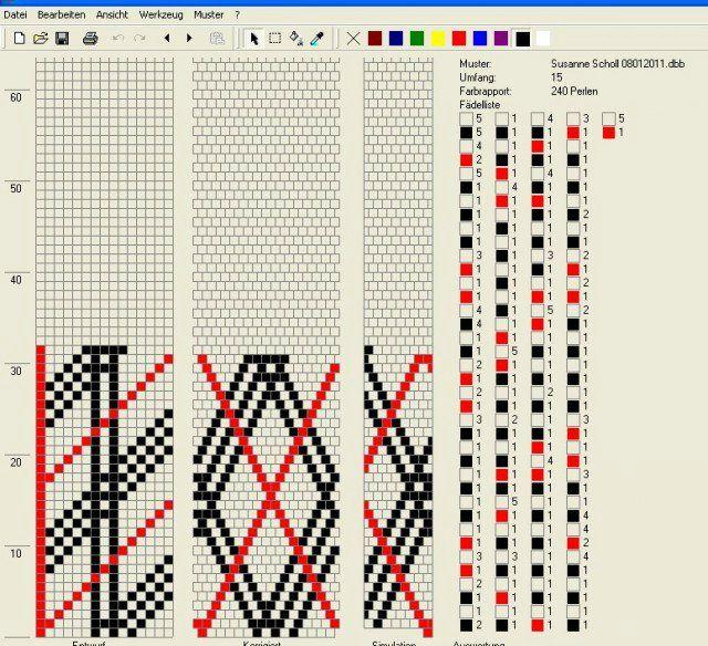 схема плетения браслета каприз