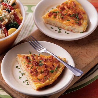 Cheddar And Vegetable Frittata Recipe — Dishmaps