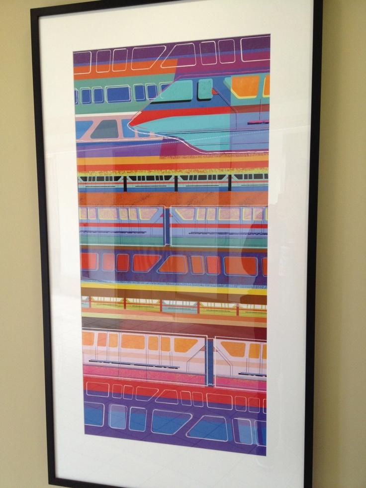 Modern Monorail print from Bay Lake Tower. MouseTalesTravel.com  #MTT #Disney #BLT