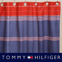 Red White And Blue Shower Curtain Tommy Hilfiger Bedroom Curta