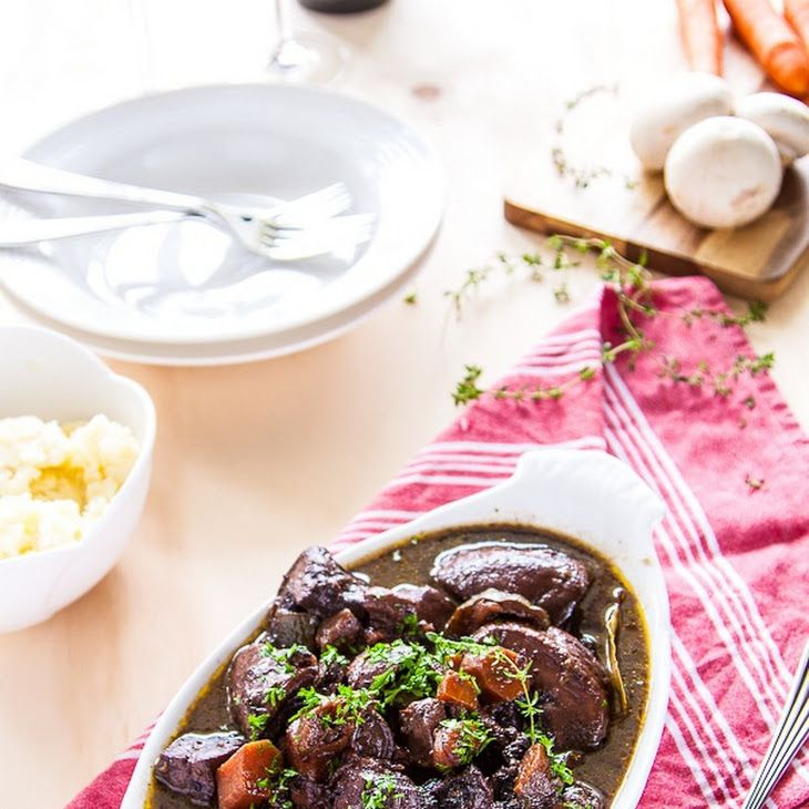 Mushroom Bourguignon IV Recipe- mmmm! We almost exclusively get Oyster ...
