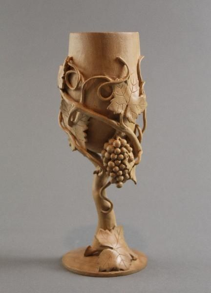 Hand carved wooden goblet | WINE GLASSES | Pinterest