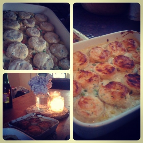 Dream Boy...Chicken Pot Pie with cream cheese and chive dumplings