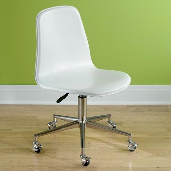 of nod kids 39 chairs kids white leather desk chair in desks c