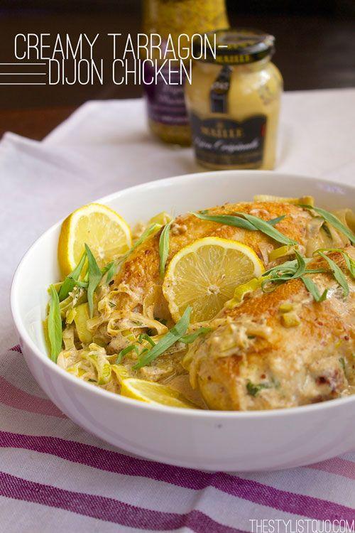 Creamy Dijon-Tarragon Chicken with Leeks