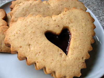 Linzer Sables. Never had, sound delicious with clove, cinnamon and jam ...