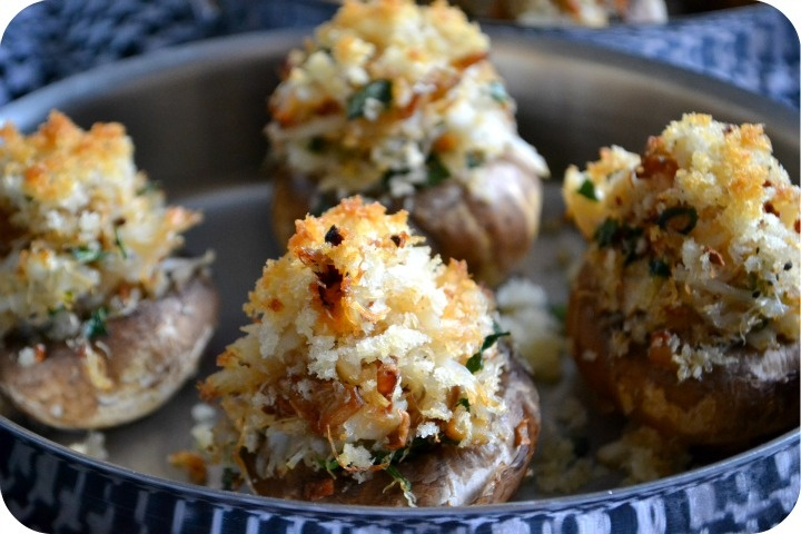 crab stuffed mushrooms | Kiss the Cook | Pinterest